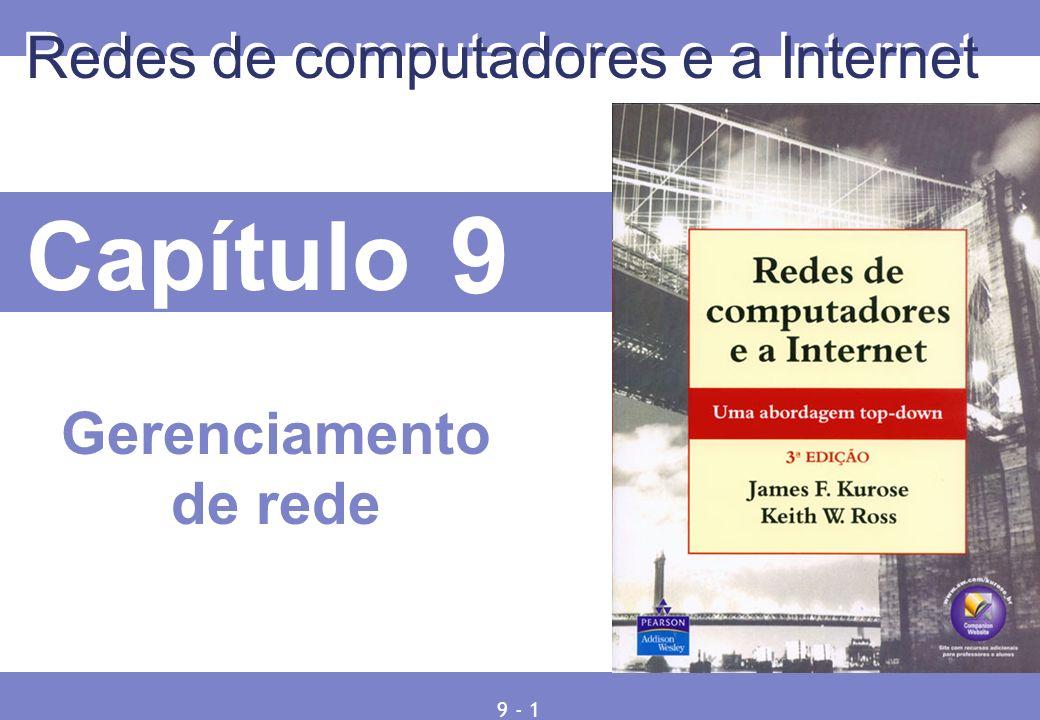 © 2005 by Pearson Education Capítulo 9 Redes de computadores e a Internet Gerenciamento de rede 9 - 1