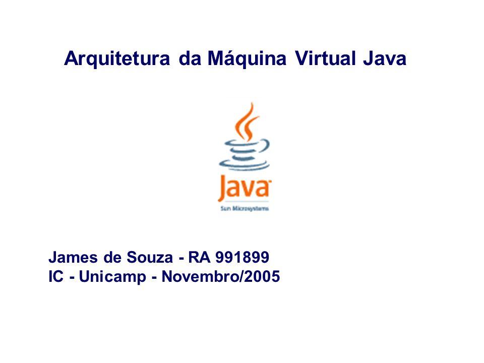 Arquitetura da JVM - Agenda - Introdução - Estrutura - Tipos de dados - Área de dados - Conjunto de instruções - Limitações - Exemplo de bytecode - Otimizações - Conclusão - Bibliografia