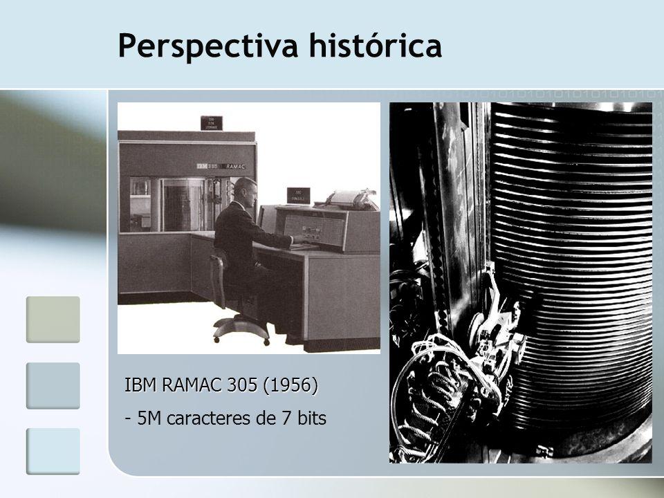 Perspectiva histórica IBM RAMAC 305 (1956) - 5M caracteres de 7 bits