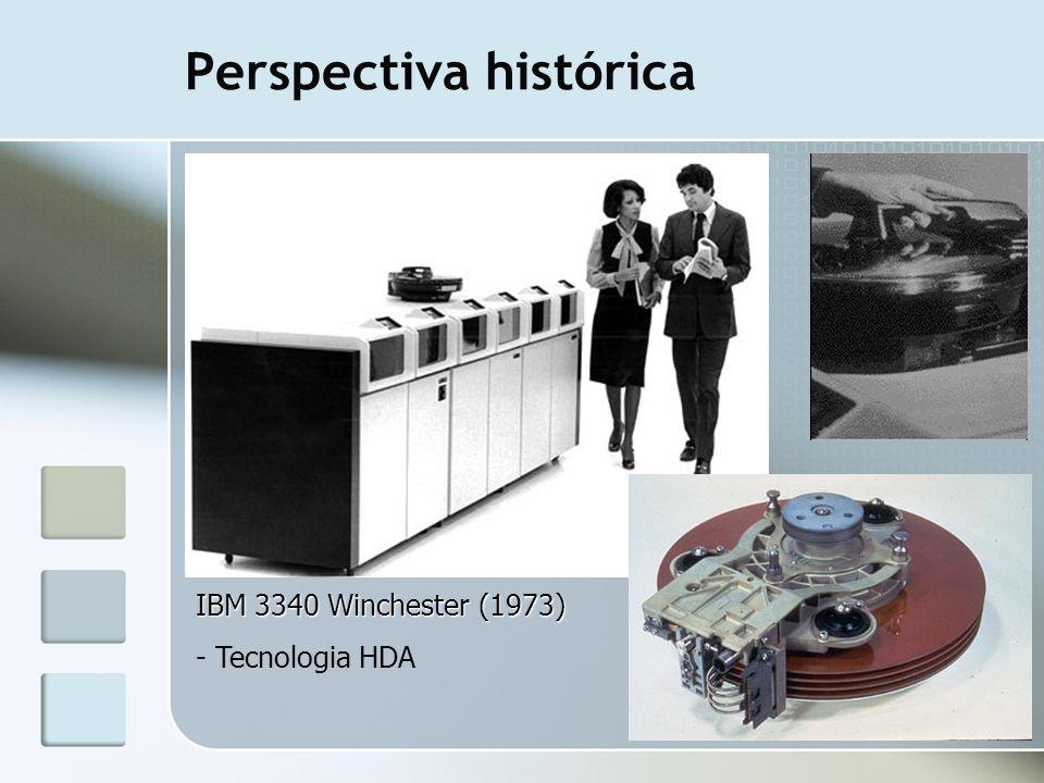 Perspectiva histórica IBM 3340 Winchester (1973) - Tecnologia HDA