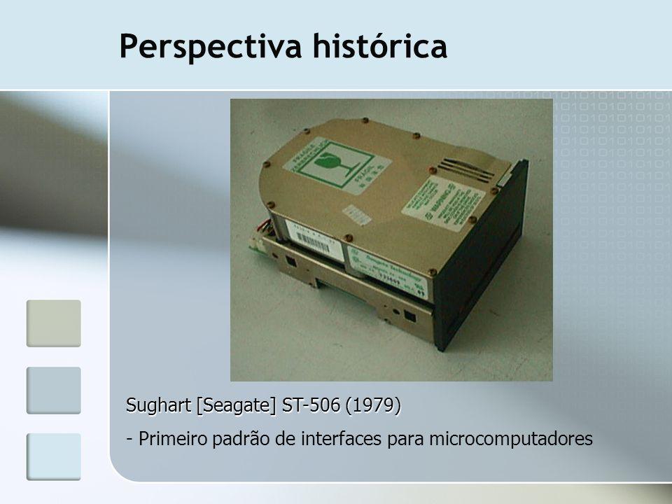 Perspectiva histórica Sughart [Seagate] ST-506 (1979) - Primeiro padrão de interfaces para microcomputadores