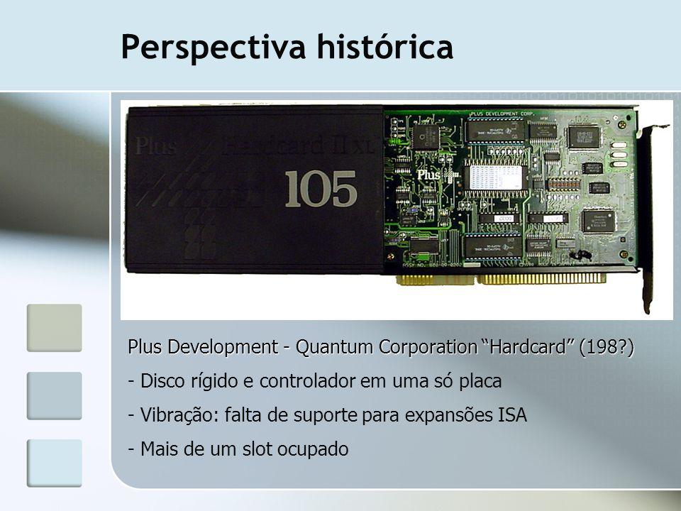 Perspectiva histórica Plus Development - Quantum Corporation Hardcard (198?) - Disco rígido e controlador em uma só placa - Vibração: falta de suporte