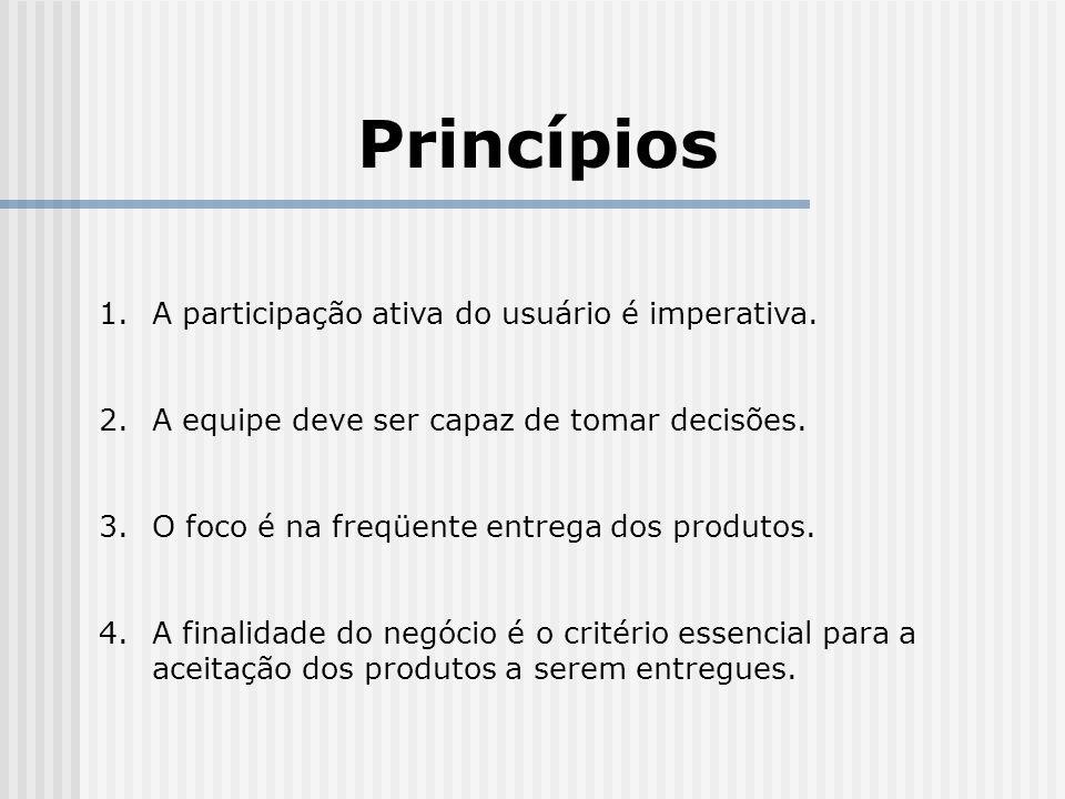 Princípios 1.A participação ativa do usuário é imperativa.