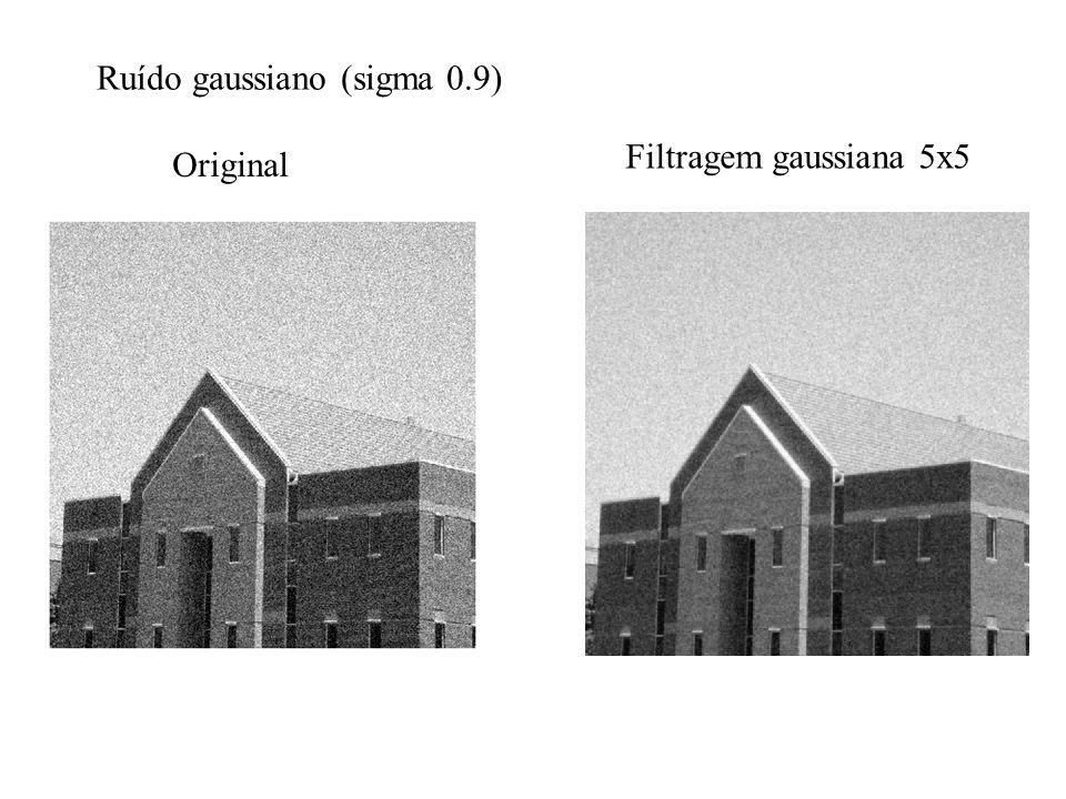Ruído gaussiano (sigma 0.9) Original Filtragem gaussiana 5x5