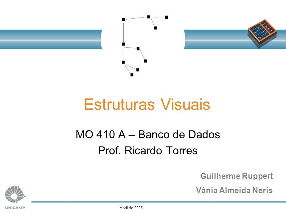Guilherme Ruppert Vânia Almeida Neris Estruturas Visuais MO 410 A – Banco de Dados Prof. Ricardo Torres Abril de 2006