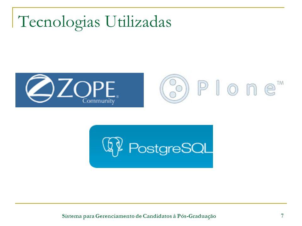 Sistema para Gerenciamento de Candidatos à Pós-Graduação 7 Tecnologias Utilizadas
