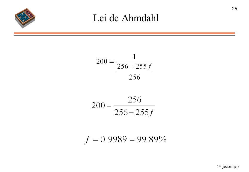 1 a jecompp 25 Lei de Ahmdahl