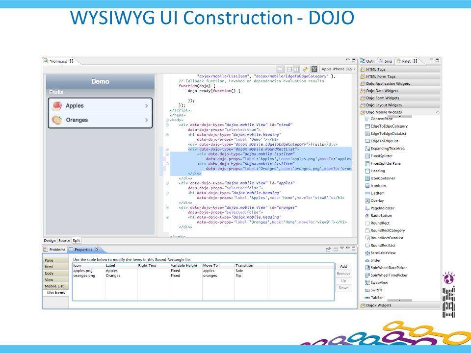 WYSIWYG UI Construction - DOJO