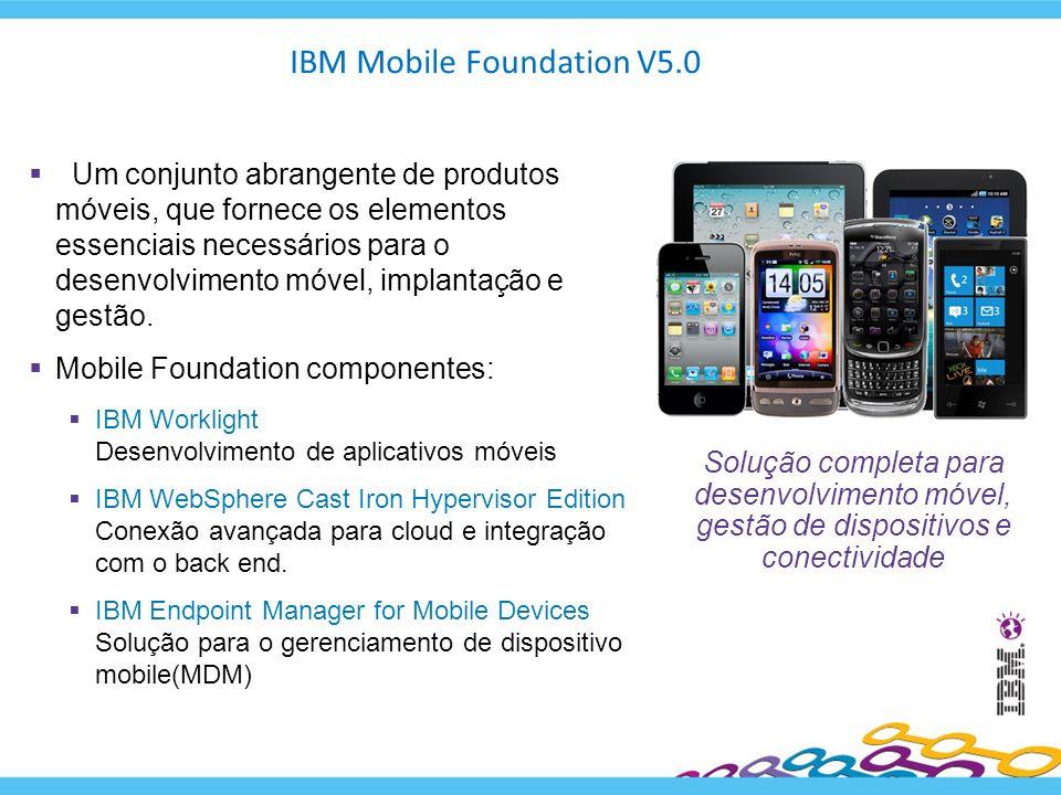 Um conjunto abrangente de produtos móveis, que fornece os elementos essenciais necessários para o desenvolvimento móvel, implantação e gestão. Mobile
