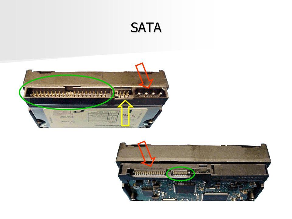 SAS Trabalhos iniciados em 2001 Trabalhos iniciados em 2001 Especificação inicial em 2004 Especificação inicial em 2004 Taxas de transferência Taxas de transferência –300MB/s, 600MB/s e 1200MB/s Destinado ao mercado de servidores Destinado ao mercado de servidores Compatibilidade com Serial ATA – mercado de desktops Compatibilidade com Serial ATA – mercado de desktops Uso de discos de diferentes taxas de transmissão Uso de discos de diferentes taxas de transmissão Permite o uso da taxa de cada disco Permite o uso da taxa de cada disco Propriedade Hot swap Propriedade Hot swap