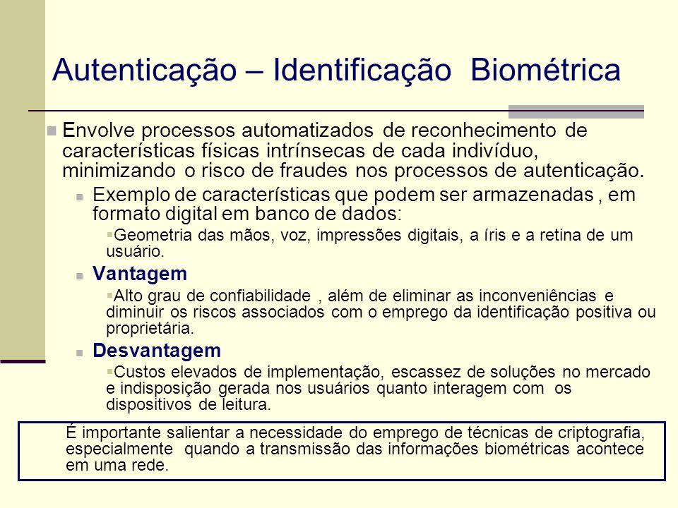 Envolve processos automatizados de reconhecimento de características físicas intrínsecas de cada indivíduo, minimizando o risco de fraudes nos process