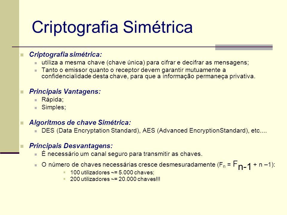 Certificados Digitais - Padrão Foi criado e aprovado pelo ITU (International Telecommunications Union) um padrão para certificados, o padrão é chamado X.509 A versão da IETF do X.509 é descrita na RFC 3280.