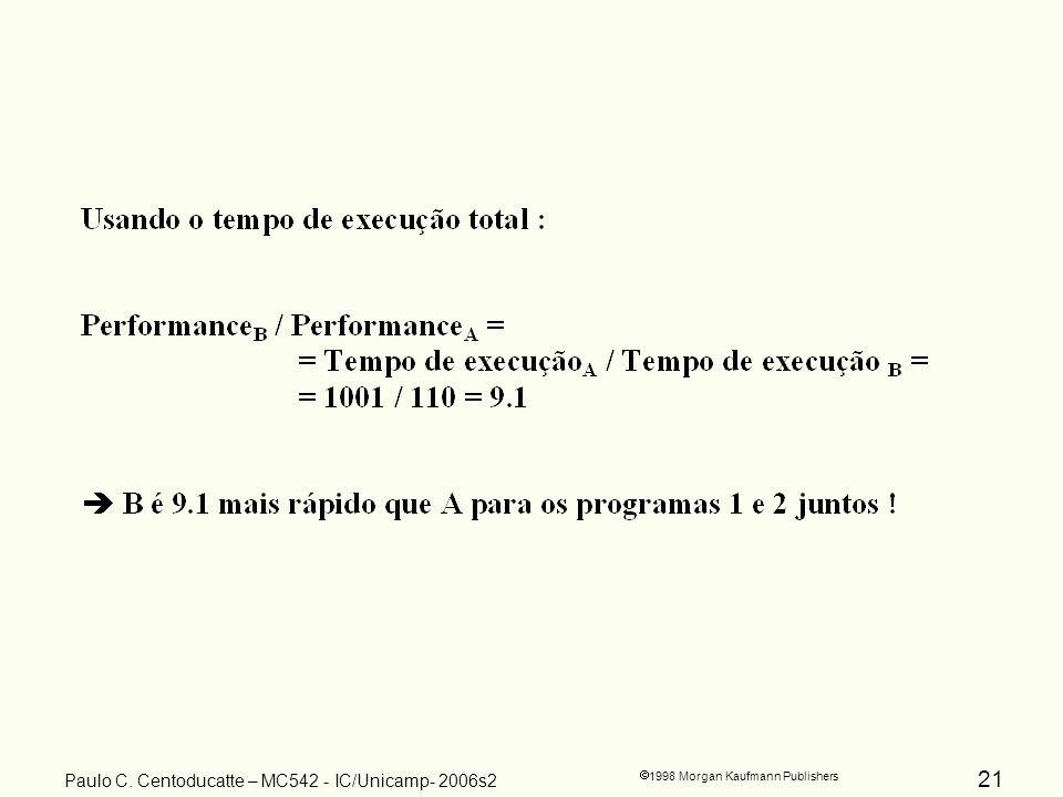 21 1998 Morgan Kaufmann Publishers Paulo C. Centoducatte – MC542 - IC/Unicamp- 2006s2
