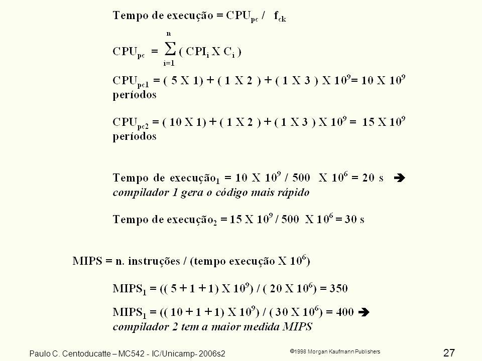27 1998 Morgan Kaufmann Publishers Paulo C. Centoducatte – MC542 - IC/Unicamp- 2006s2