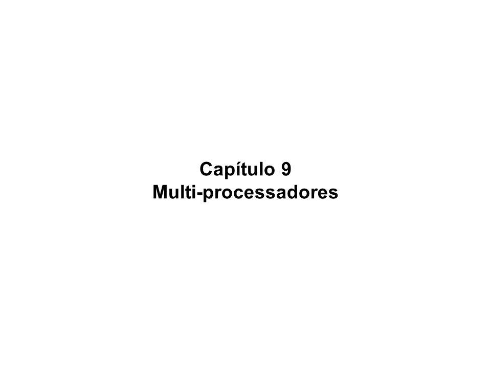 Mario Côrtes - MO401 - IC/Unicamp- 2004s2 Ch9-12 Programa paralelo em rede Exemplo (p.729) – Programação paralela e troca de mensagens: –somar 100.000 números em um computador com 100 processadores (com espaços de endereçamento privados) ligados a uma rede distribuir os 100 conjuntos de dados nas memórias locais e somar sum = 0; for (i = 0; i < 1000; i = i + 1;) sum = sum + A[i] ; /* soma arrays locais*/ Somar as 100 sub-somas send (x,y) onde x = processador Pn e y o valor half = 100; repeat half = (half+1)/2; if (Pn >= half && Pn < limit) send (pn – half, sum) if (Pn < limit/2 -1) sum = sum + receive(); limit = half; until (half ==1);