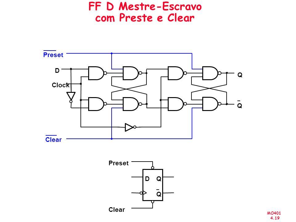 MO401 4.19 FF D Mestre-Escravo com Preste e Clear Q Q D Clock Preset Clear D Q Q Preset