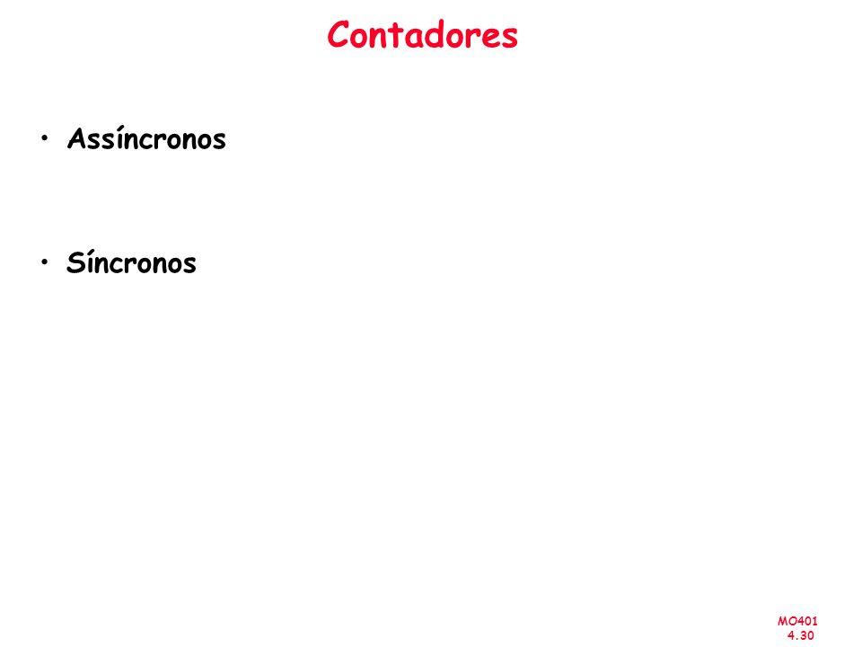 MO401 4.30 Contadores Assíncronos Síncronos