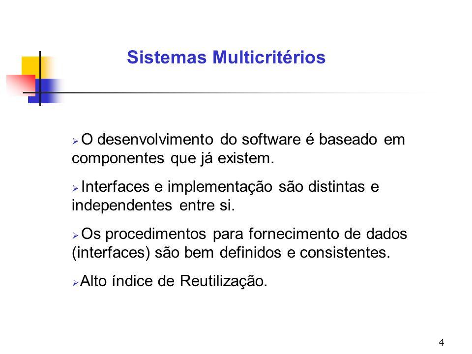 25 Sistemas Multicritérios VERIFICAÇÃO E VALIDAÇÃO - A cada PV analisado, é realizado a sua consistência (software Macbeth).
