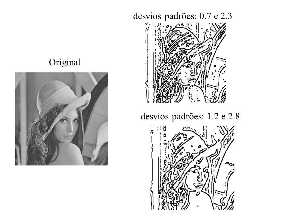 desvios padrões: 0.7 e 2.3 desvios padrões: 1.2 e 2.8 Original