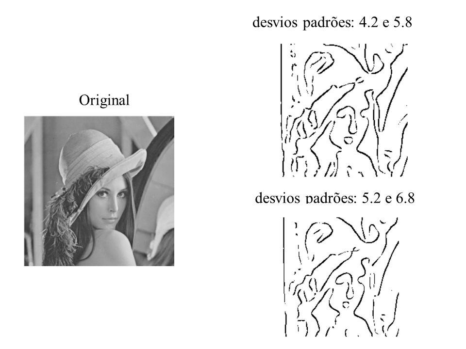 Original desvios padrões: 4.2 e 5.8 desvios padrões: 5.2 e 6.8