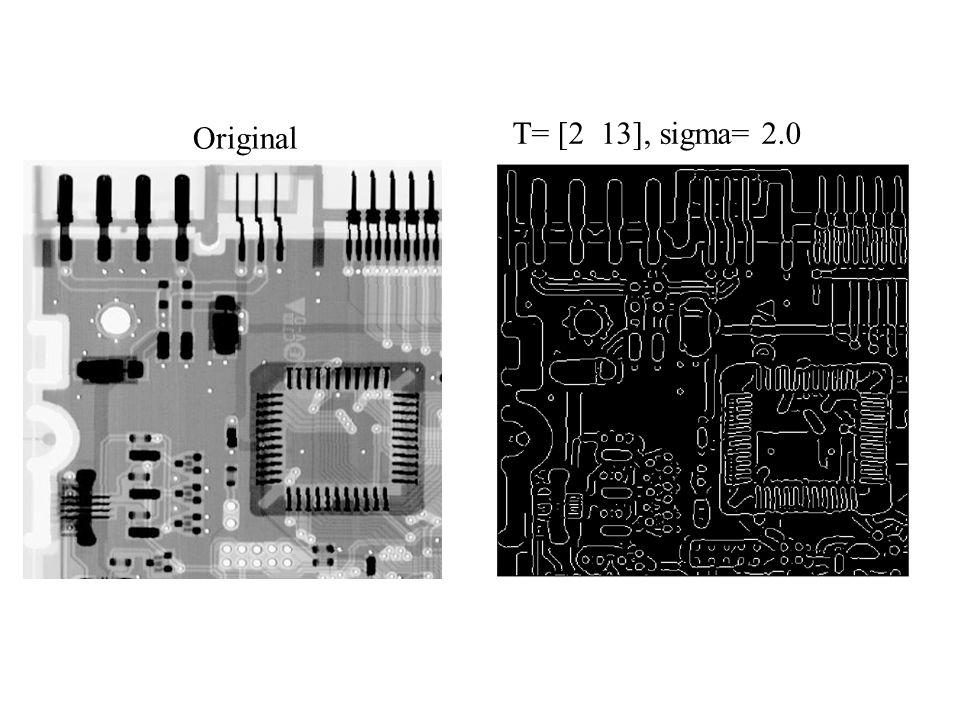 Original T= [2 13], sigma= 2.0