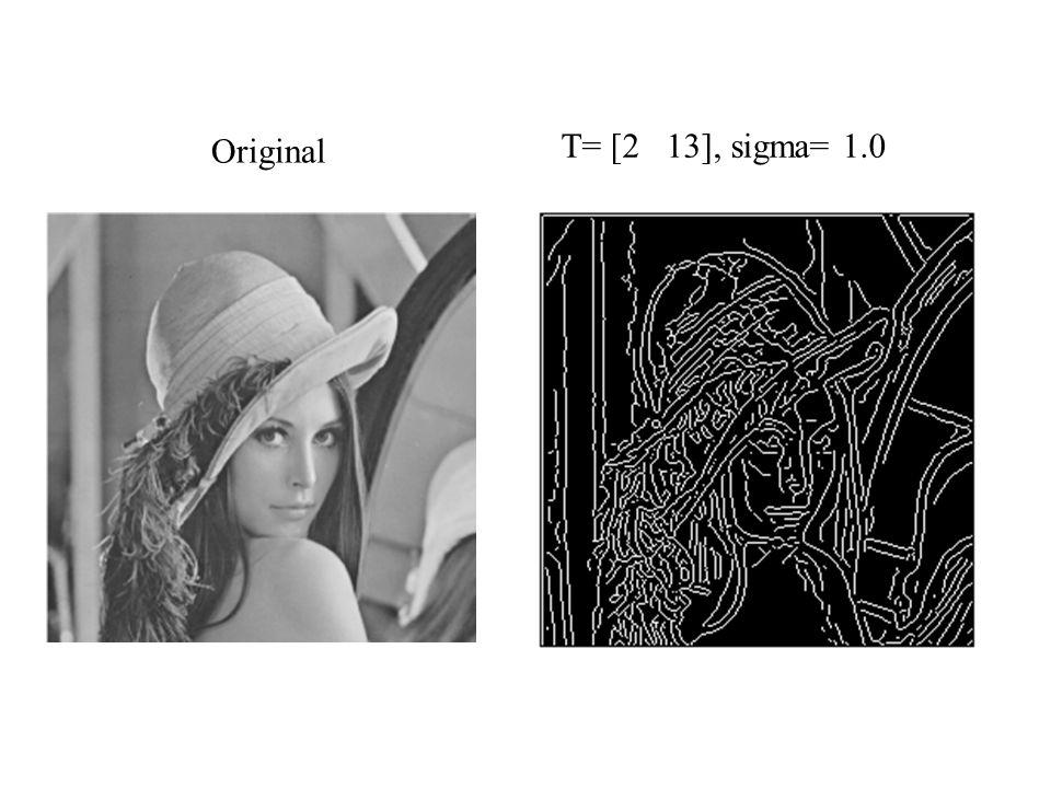 Original T= [2 13], sigma= 1.0