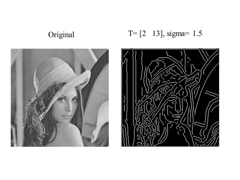 Original T= [2 13], sigma= 1.5