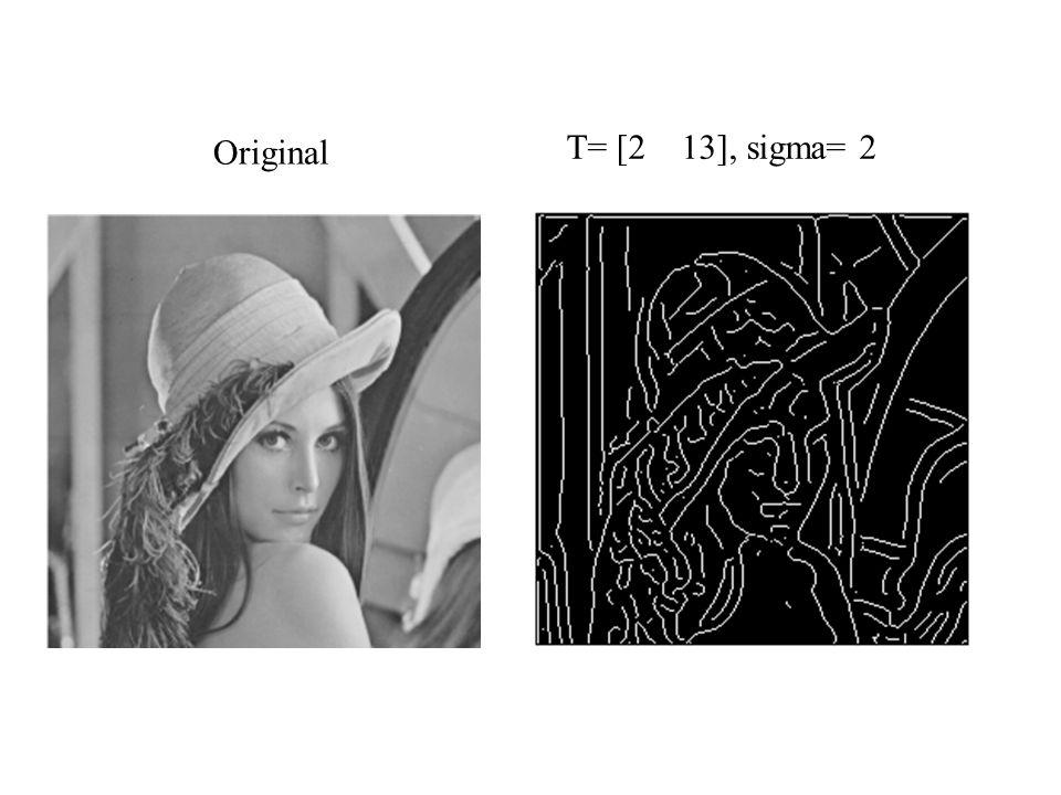Original T= [2 13], sigma= 2