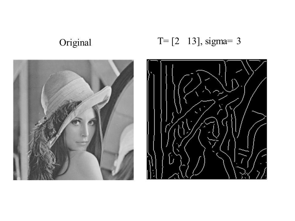Original T= [2 13], sigma= 3