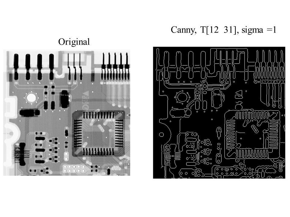 Original Canny, T[12 31], sigma =1