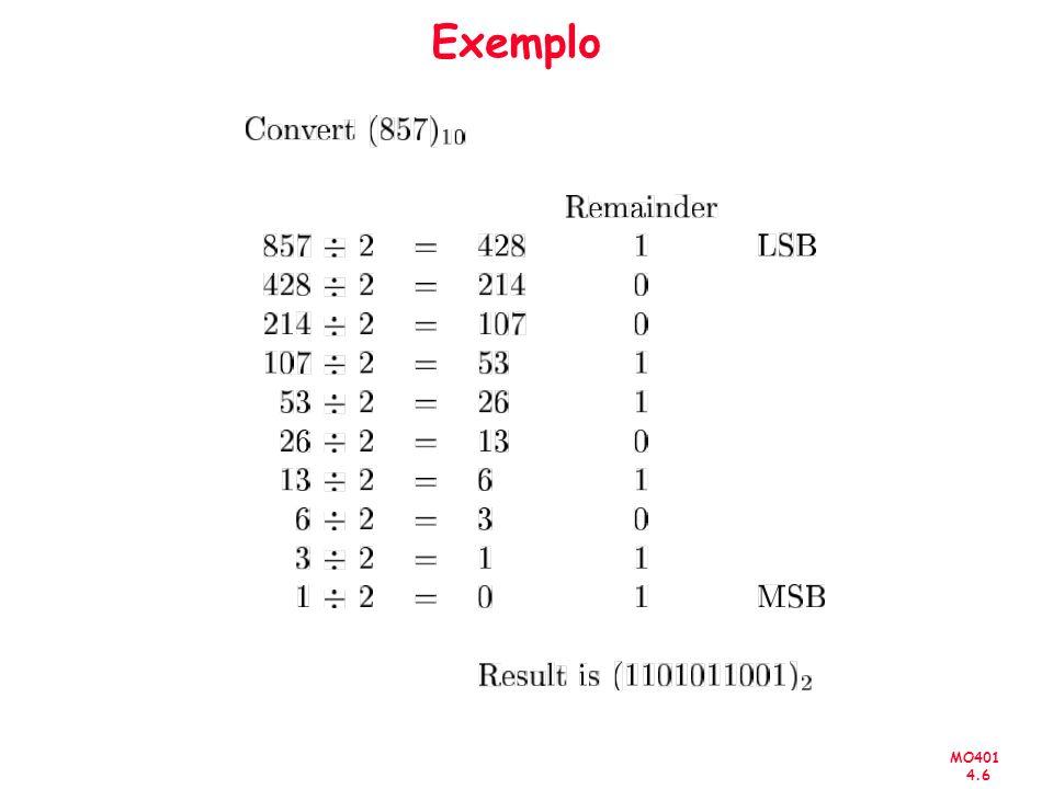 MO401 4.37 IEE-754: Exemplo -0,75 10 = -0,11 2 Normalizando 1,1 x 2 31 30 23 22 0 0 1 1 1 1 1 1 011 0 0 0 0 0 0 0 0 0 0 0 0 0 0 0 0 0 0 0 0 0 0