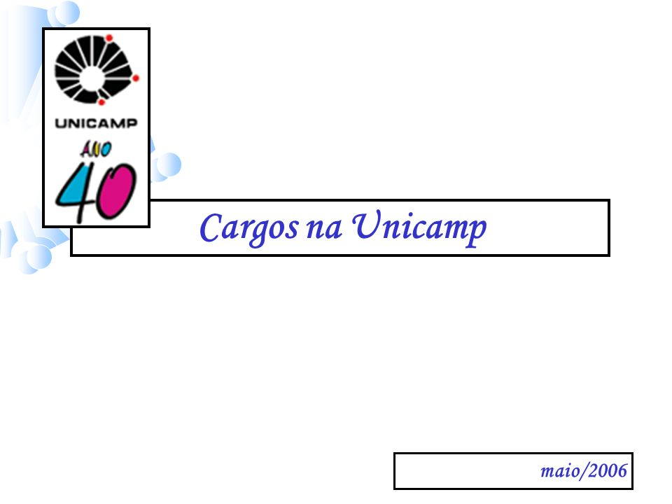 maio/2006 Cargos na Unicamp