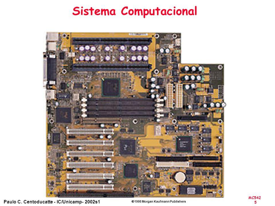 MC542 5 Paulo C. Centoducatte - IC/Unicamp- 2002s1 1998 Morgan Kaufmann Publishers Sistema Computacional
