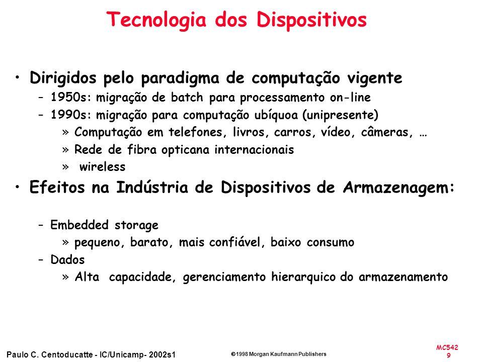 MC542 9 Paulo C. Centoducatte - IC/Unicamp- 2002s1 1998 Morgan Kaufmann Publishers Tecnologia dos Dispositivos Dirigidos pelo paradigma de computação