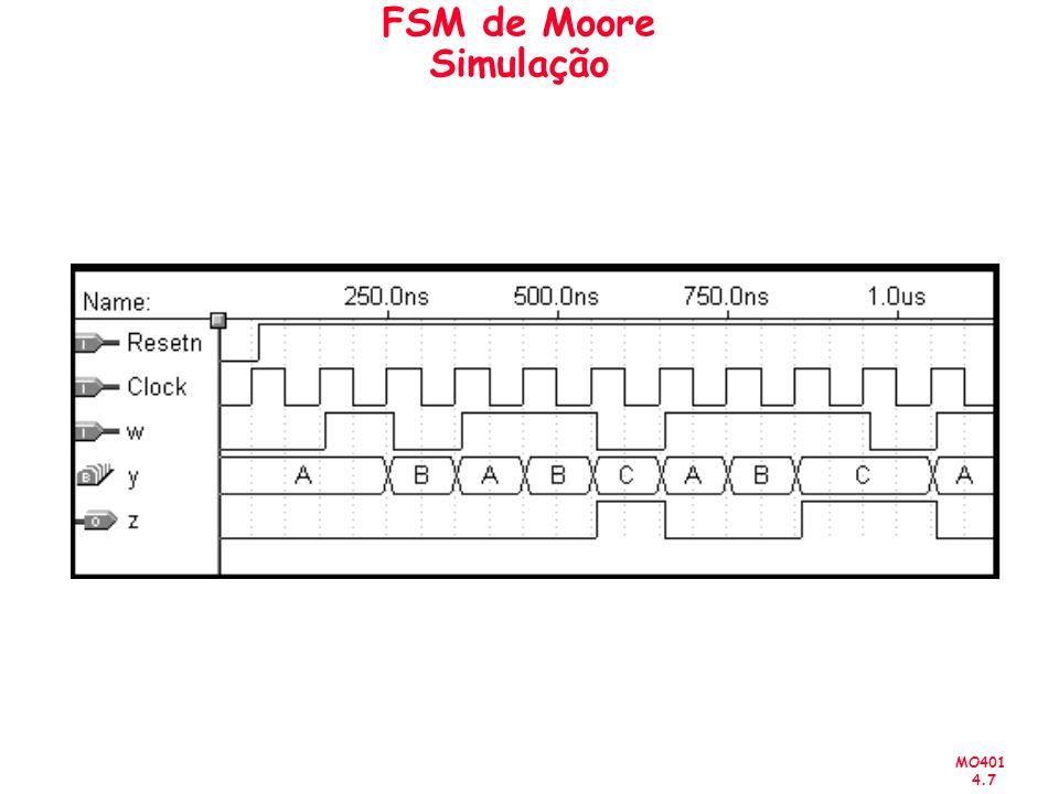 MO401 4.7 FSM de Moore Simulação