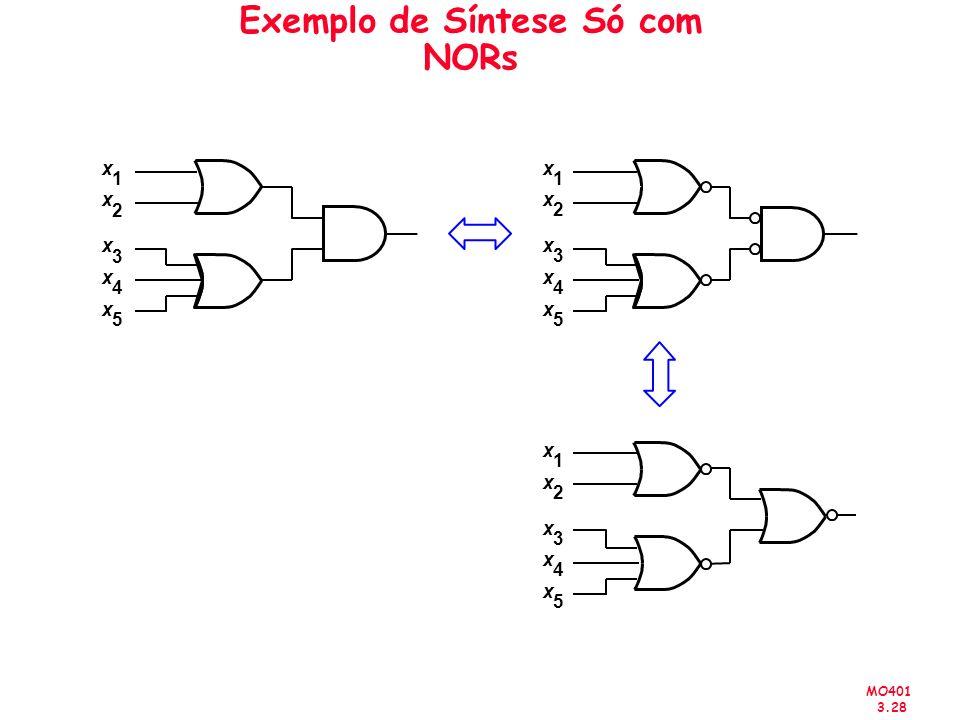 MO401 3.28 Exemplo de Síntese Só com NORs x 1 x 2 x 3 x 4 x 5 x 1 x 2 x 3 x 4 x 5 x 1 x 2 x 3 x 4 x 5