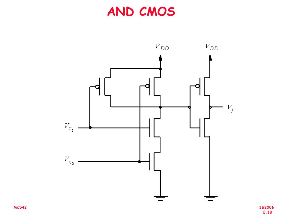 1S2006 2.18 MC542 AND CMOS