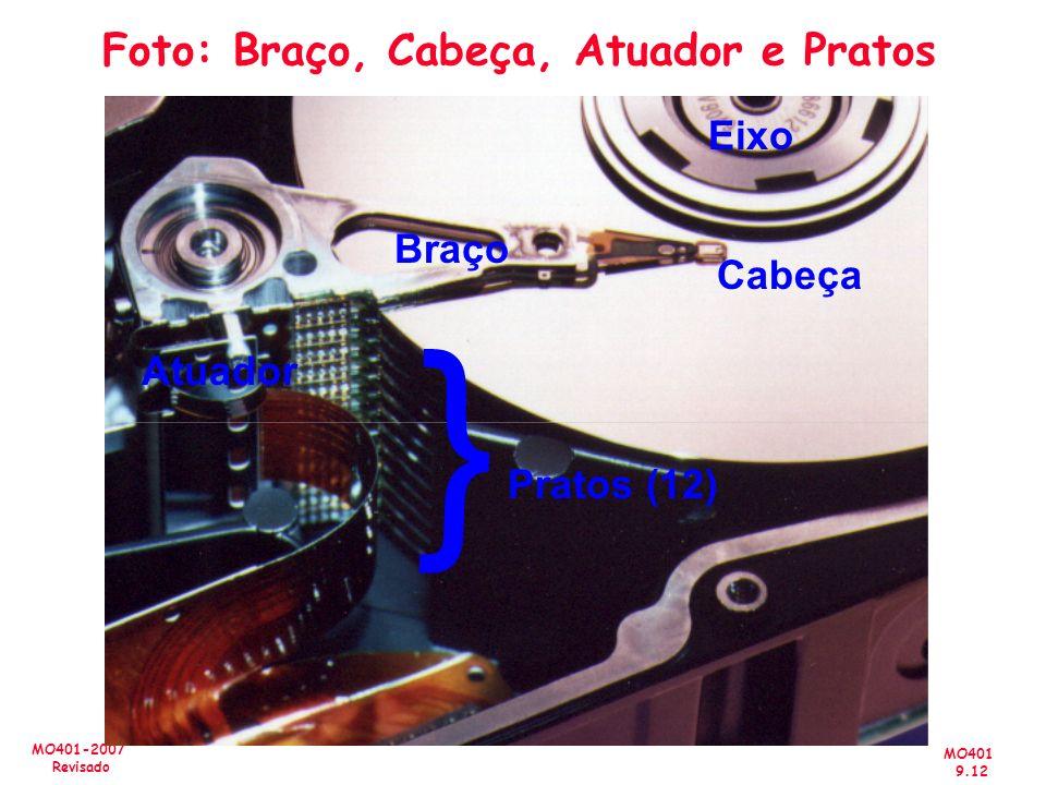 MO401 9.12 MO401-2007 Revisado Foto: Braço, Cabeça, Atuador e Pratos Atuador Braço Cabeça Pratos (12) { Eixo