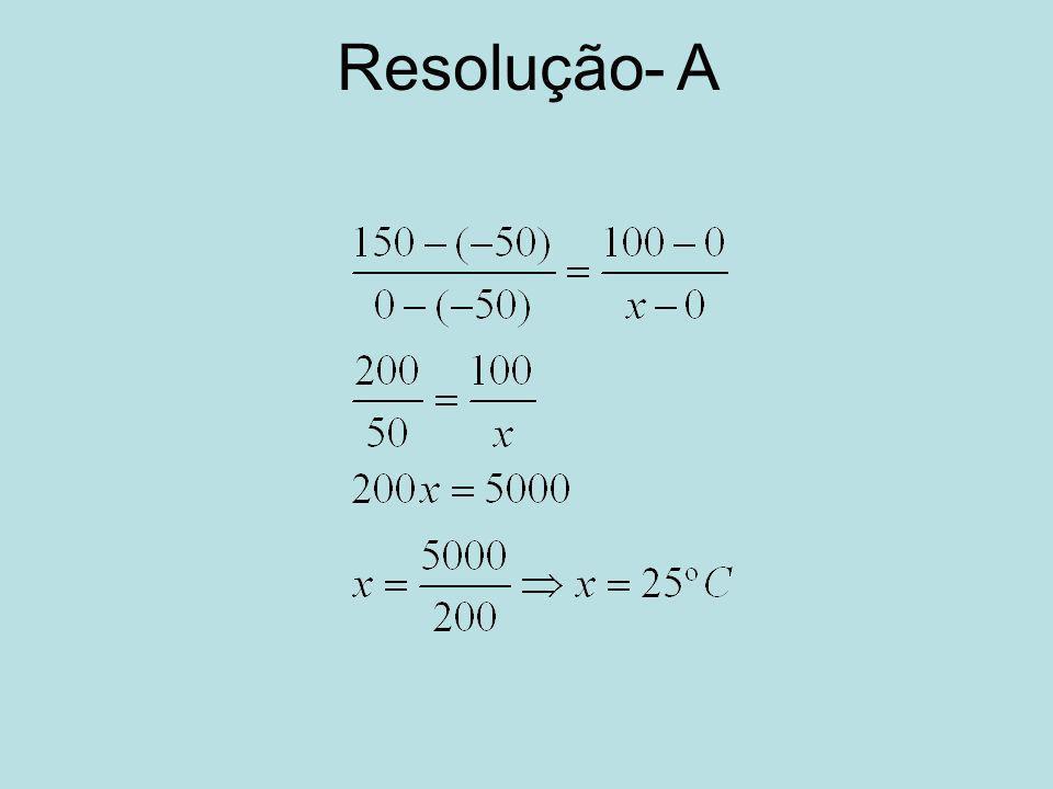 Resolução- A