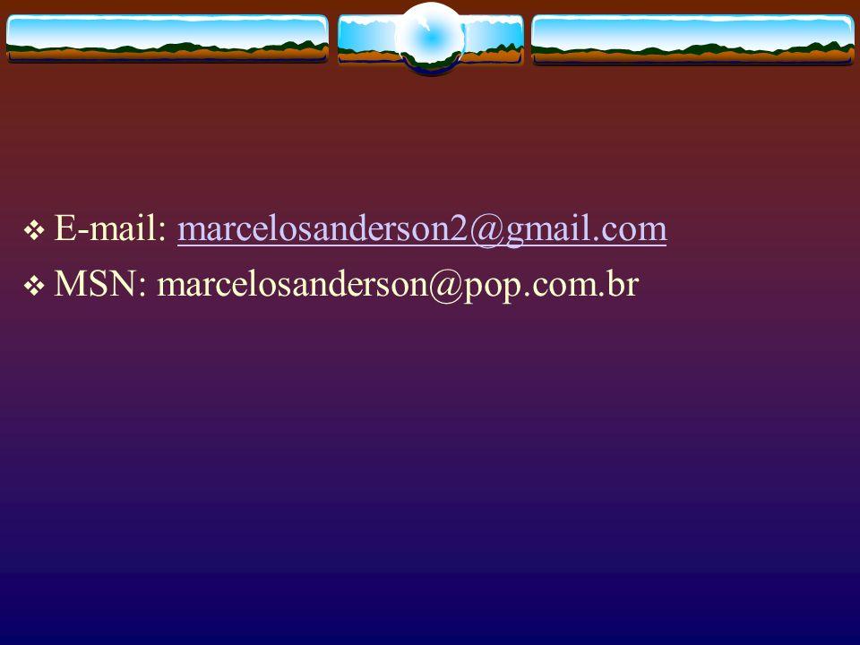 E-mail: marcelosanderson2@gmail.commarcelosanderson2@gmail.com MSN: marcelosanderson@pop.com.br