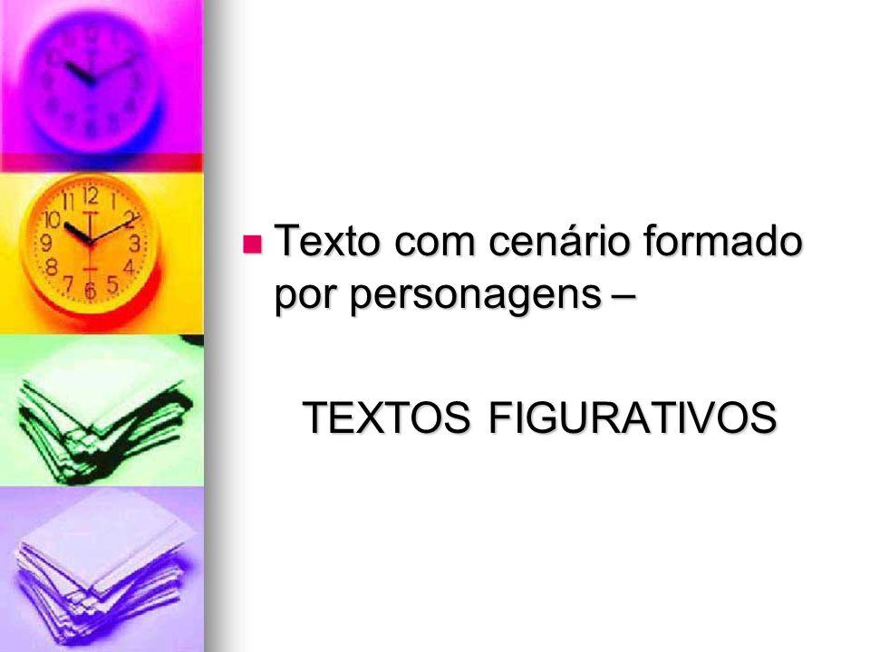 Texto com cenário formado por personagens – Texto com cenário formado por personagens – TEXTOS FIGURATIVOS TEXTOS FIGURATIVOS