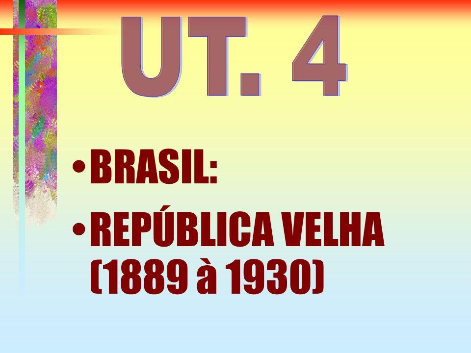 REPÚBLICA VELHA A República velha é dividida em duas fases: República das Espadas República Oligárquica