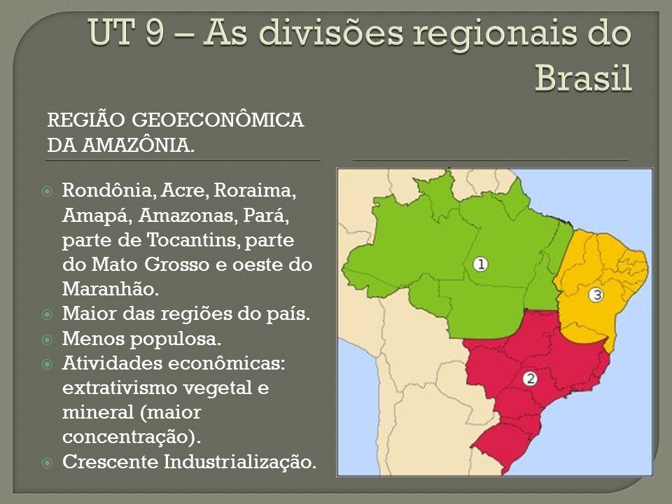 REGIÃO GEOECONÔMICA DA AMAZÔNIA.