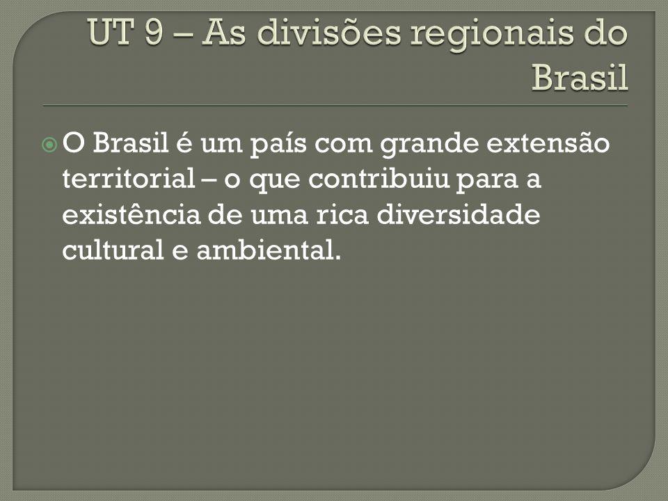 O Brasil é um país com grande extensão territorial – o que contribuiu para a existência de uma rica diversidade cultural e ambiental.