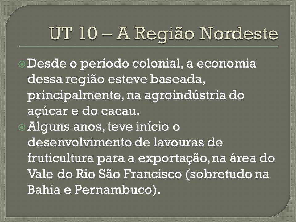Desde o período colonial, a economia dessa região esteve baseada, principalmente, na agroindústria do açúcar e do cacau.