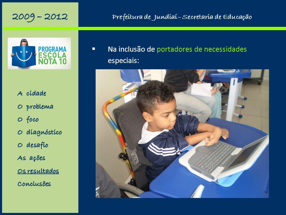 Na capacitação e no apoio ao professor: (avaliação geral da formação: 78% ótimo, 22% bom) Prefeitura de Jundiaí - Secretaria de Educação