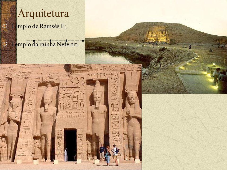 Arquitetura Templo de Ramsés II; Templo da rainha Nefertiti