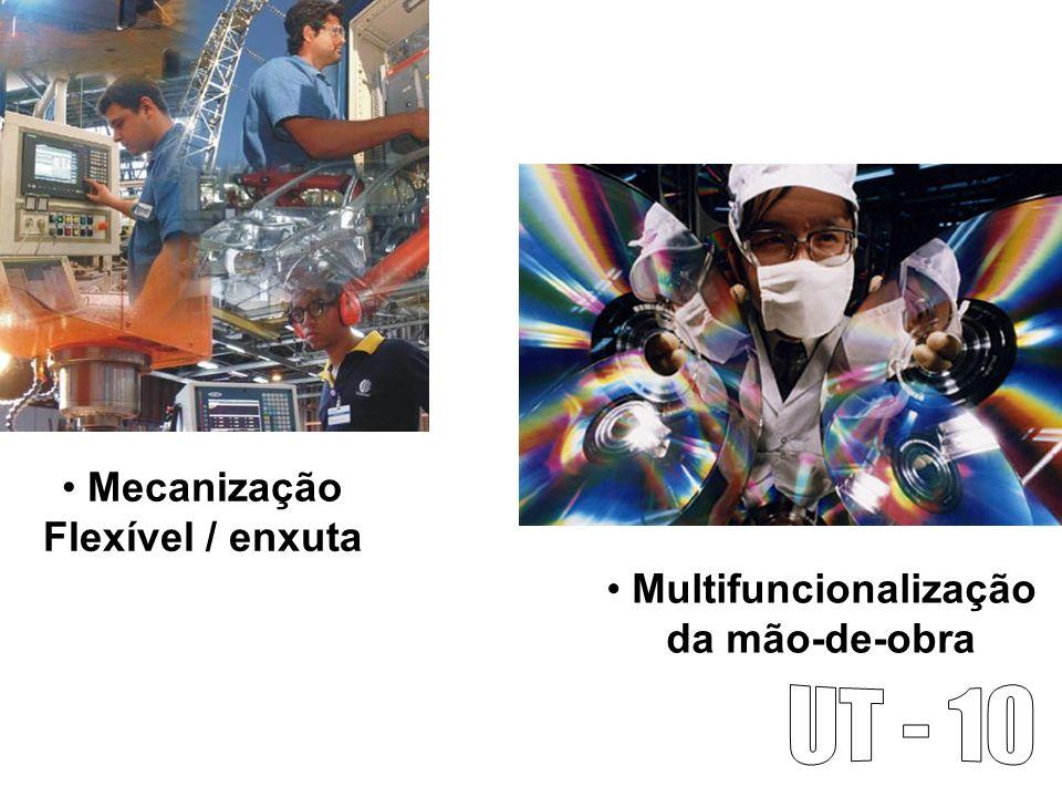 Mecanização Flexível / enxuta Multifuncionalização da mão-de-obra