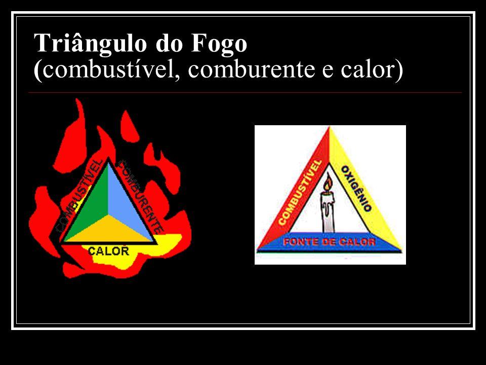 Triângulo do Fogo (combustível, comburente e calor)