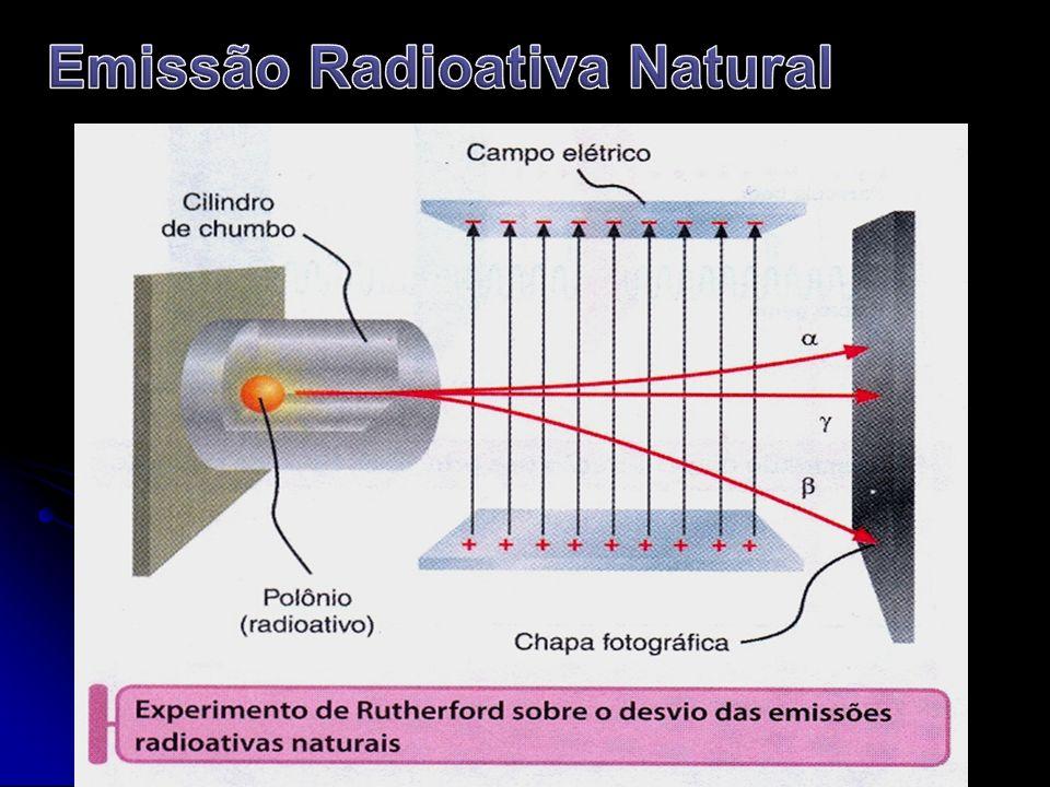 Partícula alfa (α) 2 α 4 2 α 4 Possui: 2 prótons, 2 nêutrons e nenhum elétron.